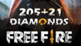 Free Fire 205 + 21 Diamonds