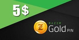 5 USD Razer Gold Global Pin