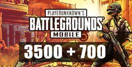 3500 + 700 PUBG Mobile UC