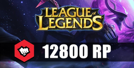 League Of Legends 12800 RP Riot Points