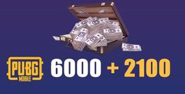 6000 + 2100 PUBG Mobile UC