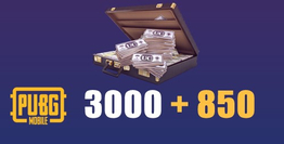 3000 + 850 PUBG Mobile UC