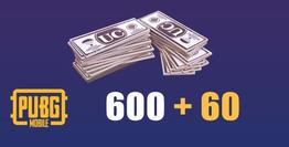 600 + 60 PUBG Mobile UC