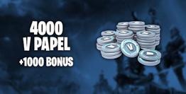 Fortnite 4.000 V-Papel + 1.000 Bonus 5.000 V-Papel