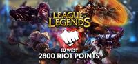 2800 RP Riot Points  Eu West