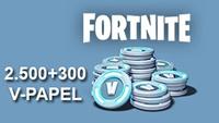 Fortnite 2500 V Papel + 300 Bonus