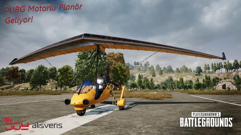 PUBG(Player unknown's Battlegrounds)'ye Motorlu Planör Geliyor!