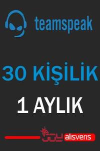 Teamspeak3 30 Kişilik Ts3 (1 AYLIK)