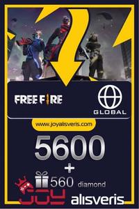 Free Fire 5600 + 560 Elmas - Diamond