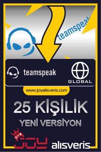 Teamspeak3 25 Kişilik Ts3 (1 AYLIK)