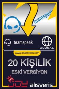 Teamspeak3 20 Kişilik Ts3 (1 AYLIK) ESKİ SÜRÜM
