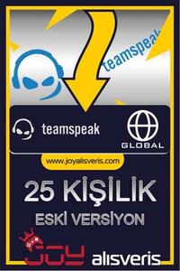 Teamspeak3 25 Kişilik Ts3 (1 AYLIK) ESKİ SÜRÜM