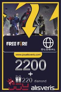 Free Fire 2200 + 220 Elmas - Diamond