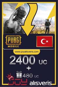 2400 + 480 PUBG Mobile UC