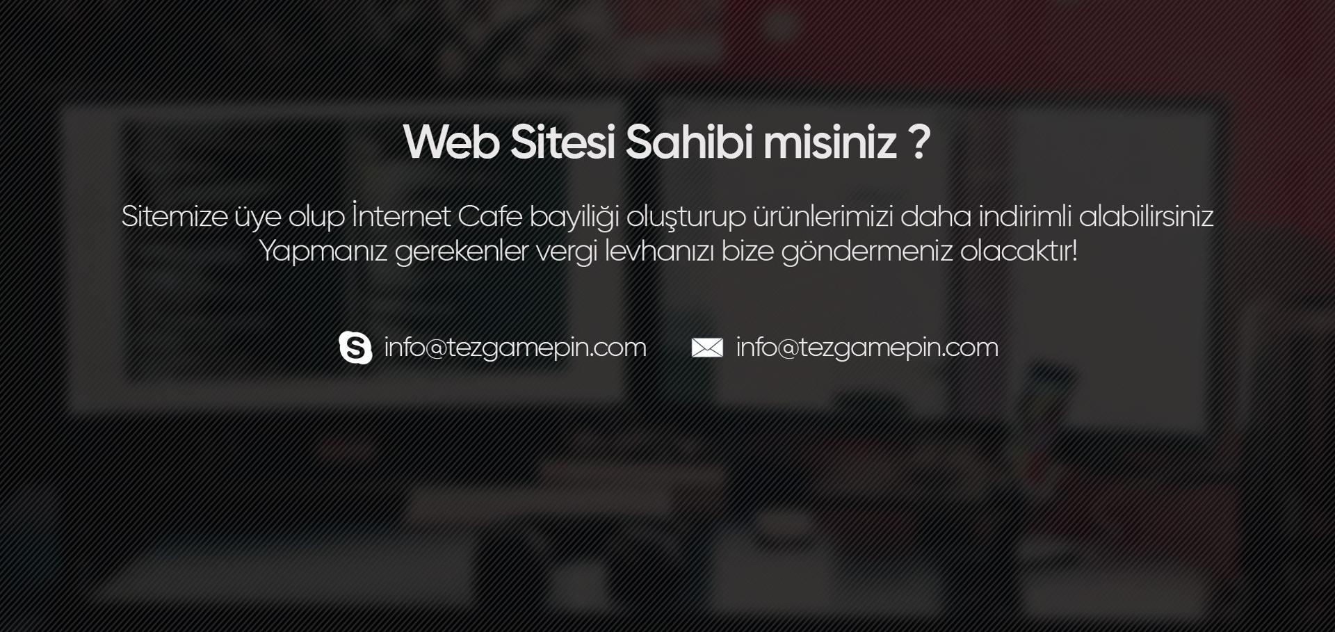 İnternet Sitesi sahibi misiniz?