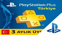 Playstation Plus Card TR PSN Türkiye 90 Gün (3 AY) PLUS Üyelik Kodu