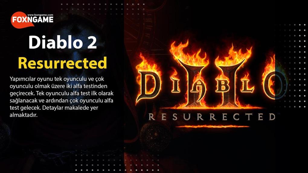 Diablo 2: Resurrected İki Alfa Testinden Geçecek