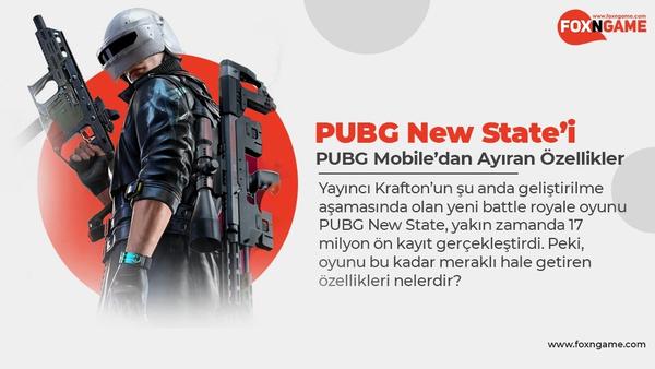 PUBG New State'i PUBG Mobile'dan Ayıran Özellikler