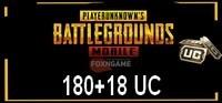 180+18 UC PUBG Mobile Unknown Cash