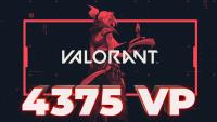 4375 VP Valorant Points