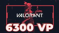 6300 VP Valorant Points