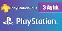 Playstation Plus Kart 3 Aylık TR