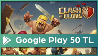 Clash of Clans Google Play 50 TL