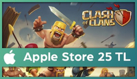 Clash of Clans Apple Store 25 TL