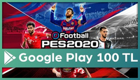 PES 2020 Mobile Google Play 100 TL