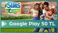 The Sims Mobil Google Play 50 TL