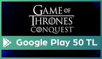 Game of Thrones Google Play 50 TL