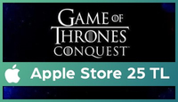 Game of Thrones Apple Store 25 TL
