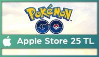 Pokemon GO Apple Store 25 TL