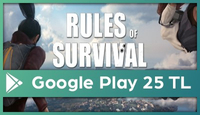Rules of Survival Google Play 25 TL