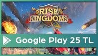 Rise Of Kingdoms Google Play 25 TL
