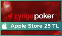 Zynga Poker Apple Store 25 TL
