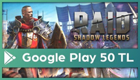 RAID: Shadow Legends Google Play 50 TL
