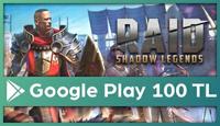 RAID: Shadow Legends Google Play 100 TL
