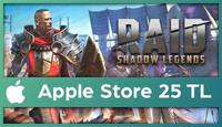 RAID: Shadow Legends Apple Store 25 TL