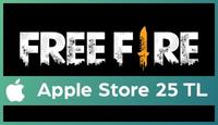 Garena Free Fire: Evrim Apple Store 25 TL