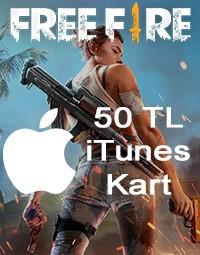 Free Fire Apple iTunes Kart 50 TL