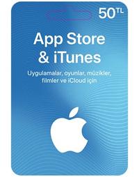50 TL Apple Store iTunes Kart