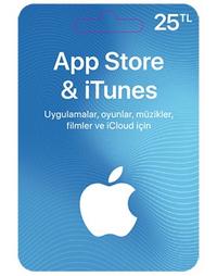 25 TL Apple Store iTunes Kart