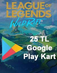 Wild Rift RP Google Play Kart 25 TL