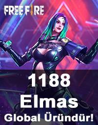Free Fire 1188 Elmas (Diamond)