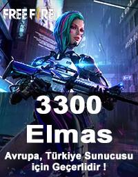 Free Fire 3300 Elmas