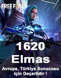 Free Fire 1620 Elmas