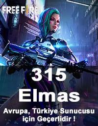Free Fire 315 Elmas