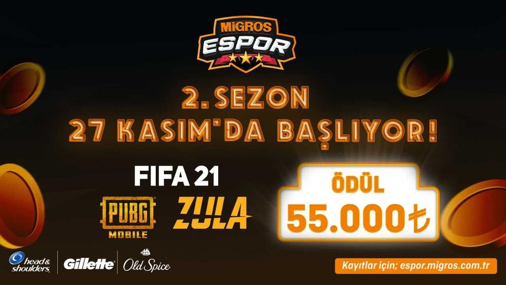 Migros Espor Turnavası'nda İkinci Sezon Bugün Başlıyor