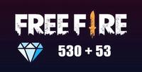 Free Fire 530 + 53 Diamond ( GLOBAL )